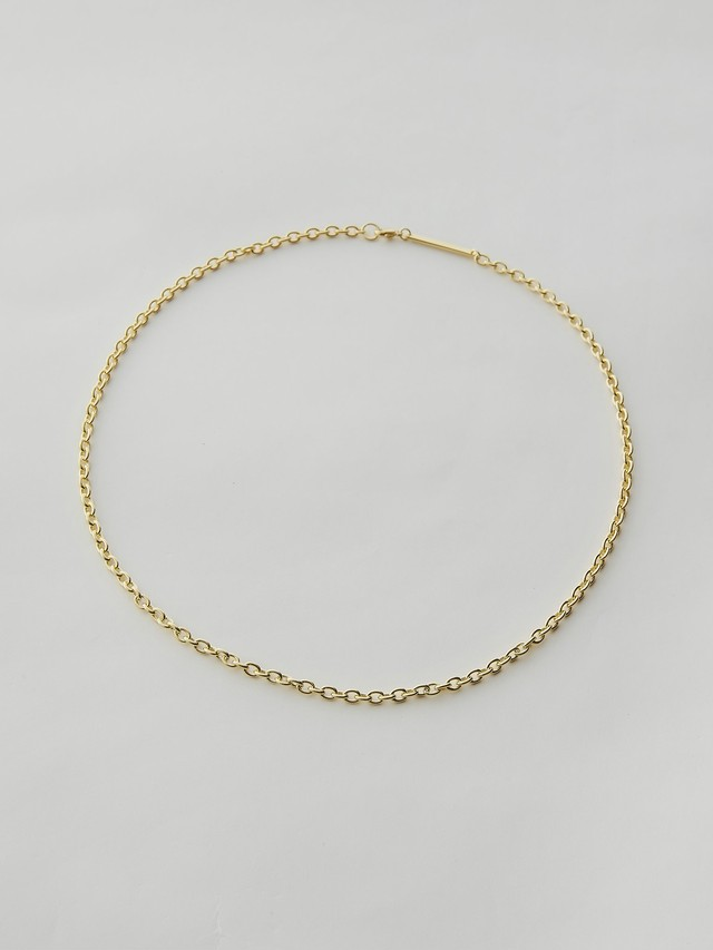 WEISS Cable Chain Necklace Gold wei-ncgd-19