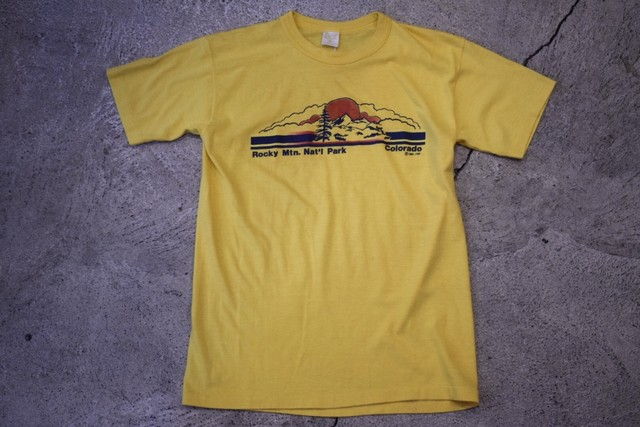 USED Rocky Mtn. Nat'l Park T-shirt S 80s made in USA T0207