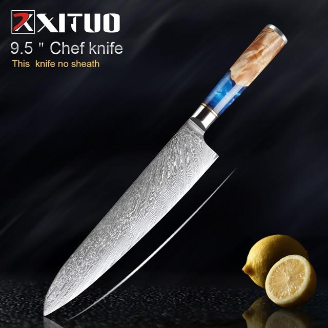 XITUO 牛刀 刃渡り24.1cm VG10 ks20043001