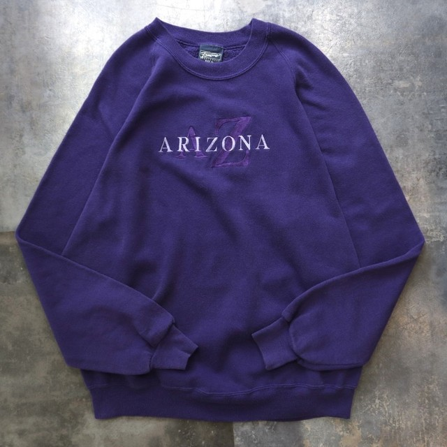 made in USA purple logo sweat