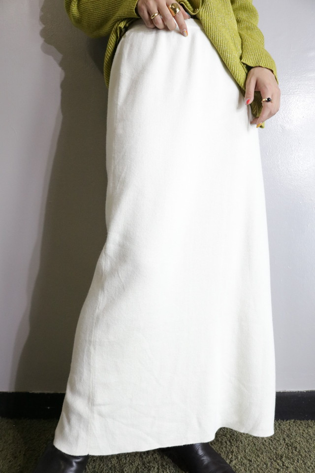 knit maxi skirt / SK10010006