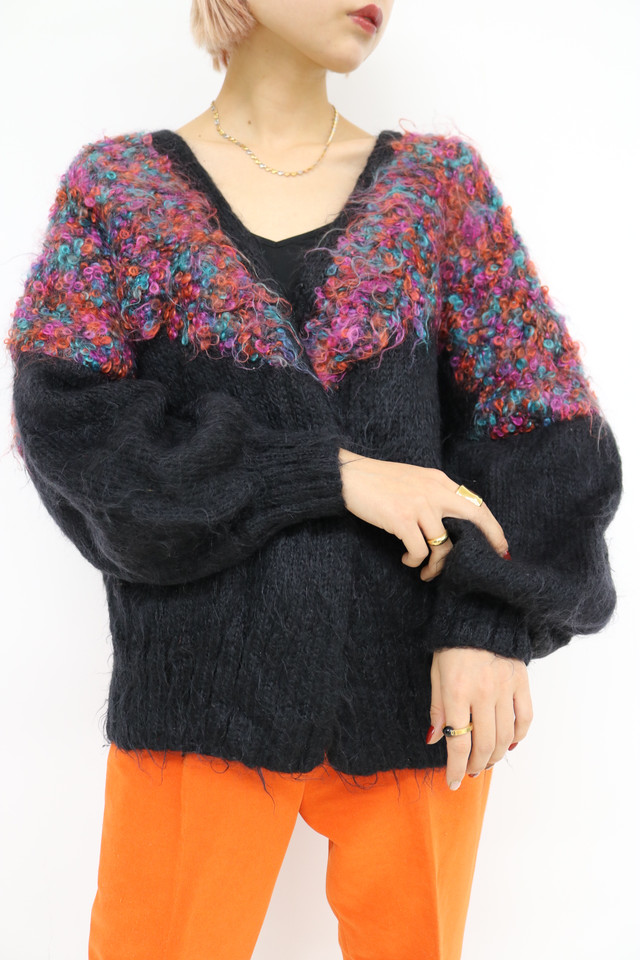 balloon sleeve cardigan / TP10280012