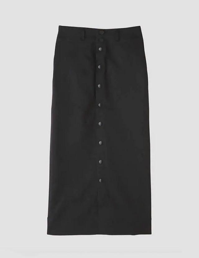 CHINO STRETCH SKIRT BLACK / Luxluft