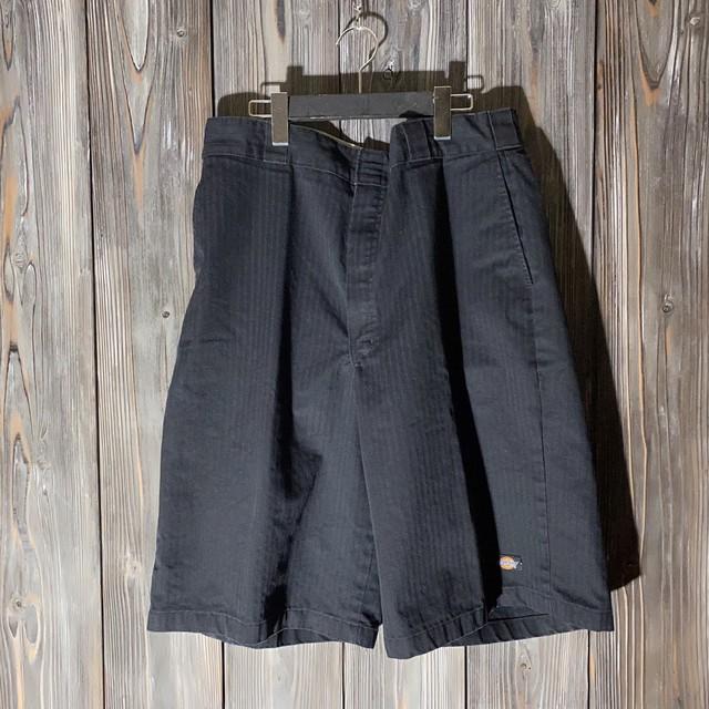 [Dickies]thin stripe half pants