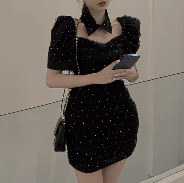 bunny dot dress 2color