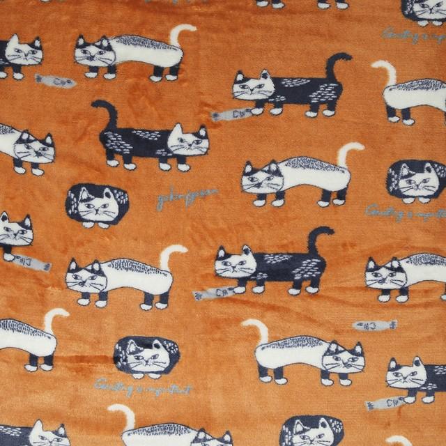 猫ブランケット(マチルダさん)オレンジ