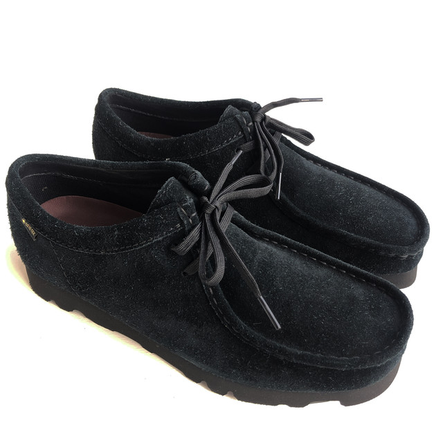 "Clarks Originals ""Wallabee Gore-Tex""  Black Suede"