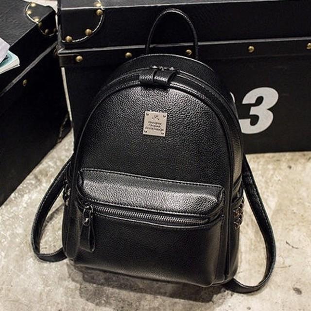 リュック バッグ シンプル デザイン ブラック B1579