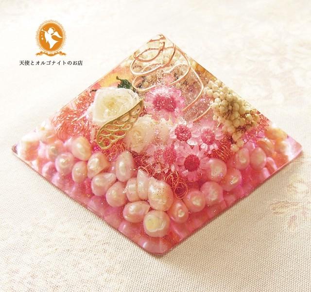 愛と美のピラミッド パール 黄金比【オルゴナイト】No.4