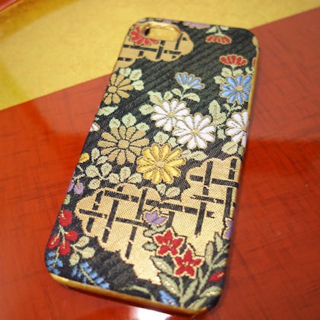 西陣織スマホケース/菊【対応機種:iphone5/5s/SE 】注)5c対応不可
