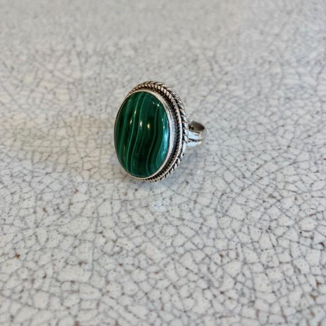 silver ring/マラカイト
