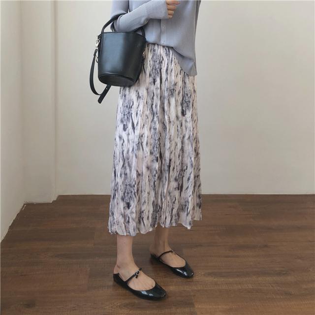 〈カフェシリーズ〉ミルクソーダのくしゅくしゅスカート