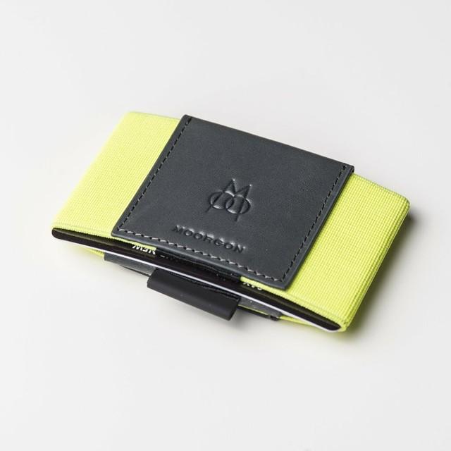 ■MOORGON モールゴン ミニマル財布 カードケースウォレット ブライトイエロー(ネオンカラー)
