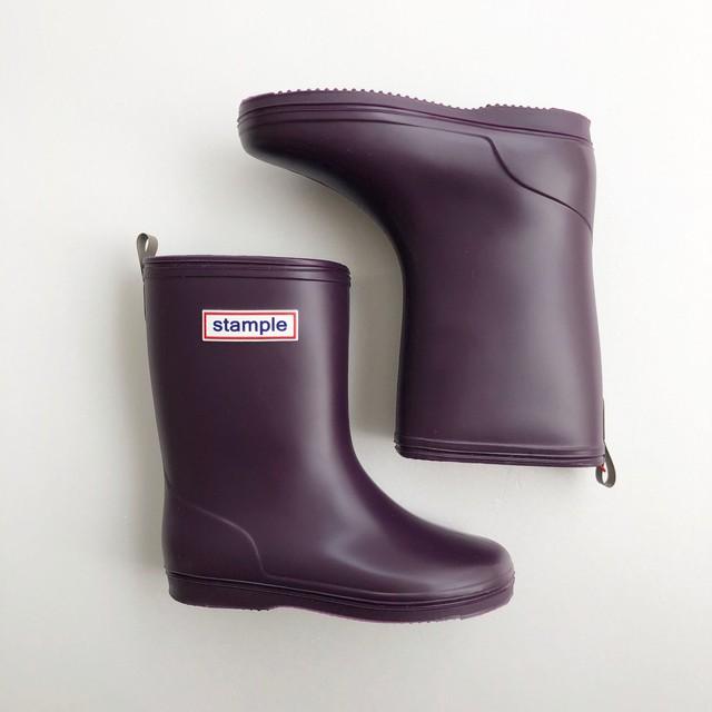 再入荷 ☆ stample Rain Boots  (MADE IN JAPAN) パープル 16~19cm #75005 #60