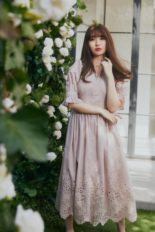 Back Lace Midi Shirt Dress