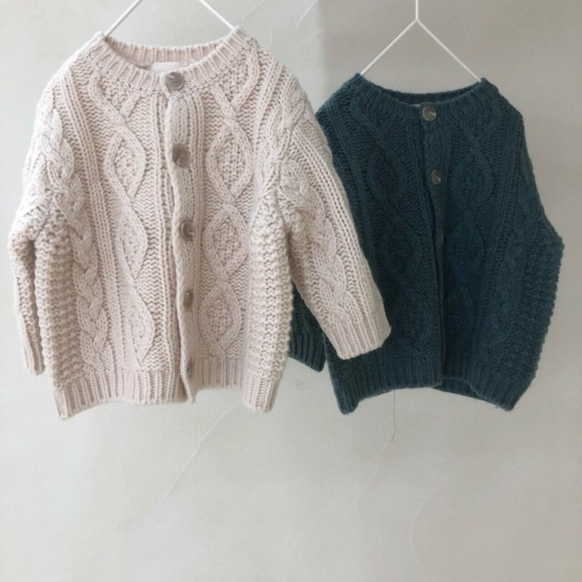 oatmeal-cable knit cardigan