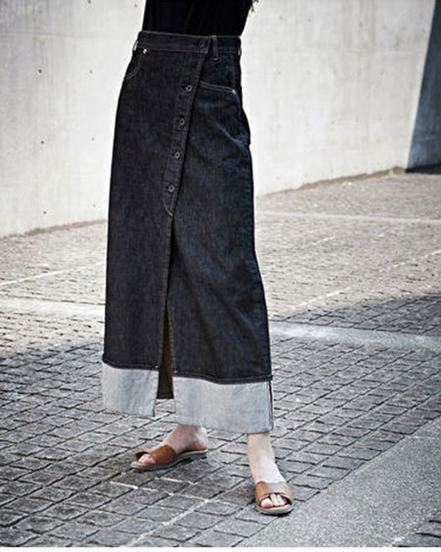 SELVAGE DENIM SKIRT / SALT + JAPAN