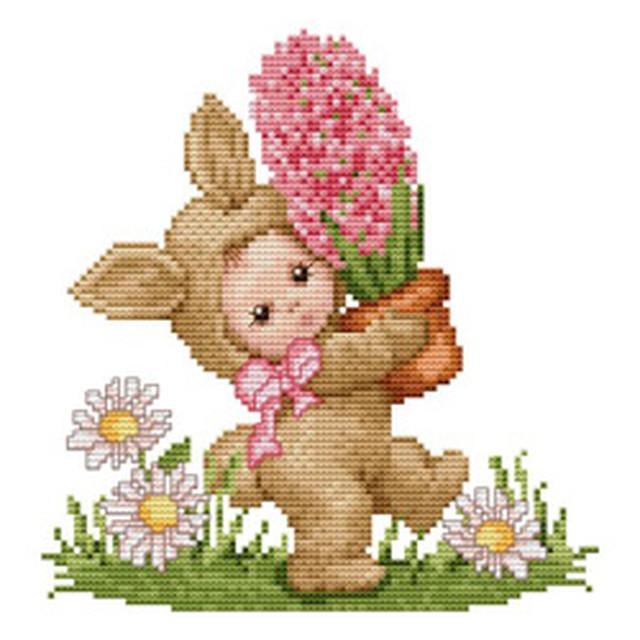 クロスステッチ図案「Bunny baby」ウサギさん:C-2907