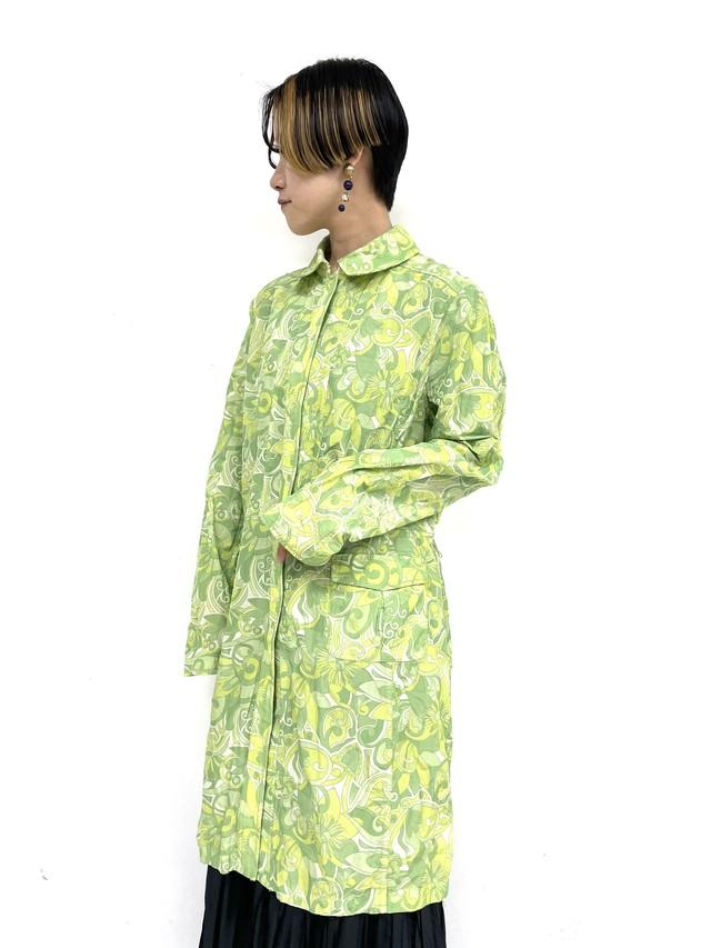 rétro total pattern nylon coat / 2SSOU25-21