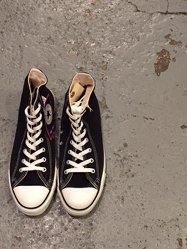 CONVERSE ALL STAR BLACK HI size10 90's Made in USA