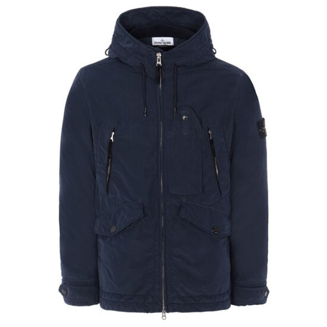 STONE ISLAND  40931 DAVID LIGHT-TC WITH MICROPILE MARIN BLUE