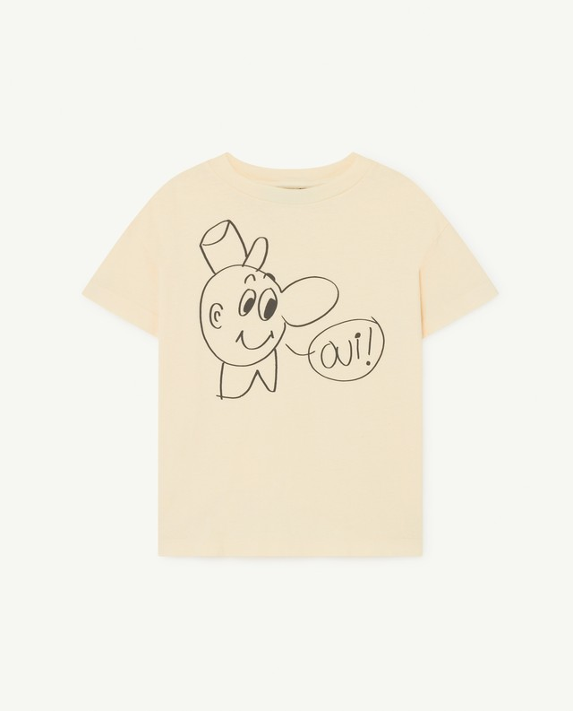The Animals Observatory  ROOSTER KIDS T-SHIRT yellow
