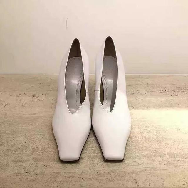 ◆予約◆square toe heels