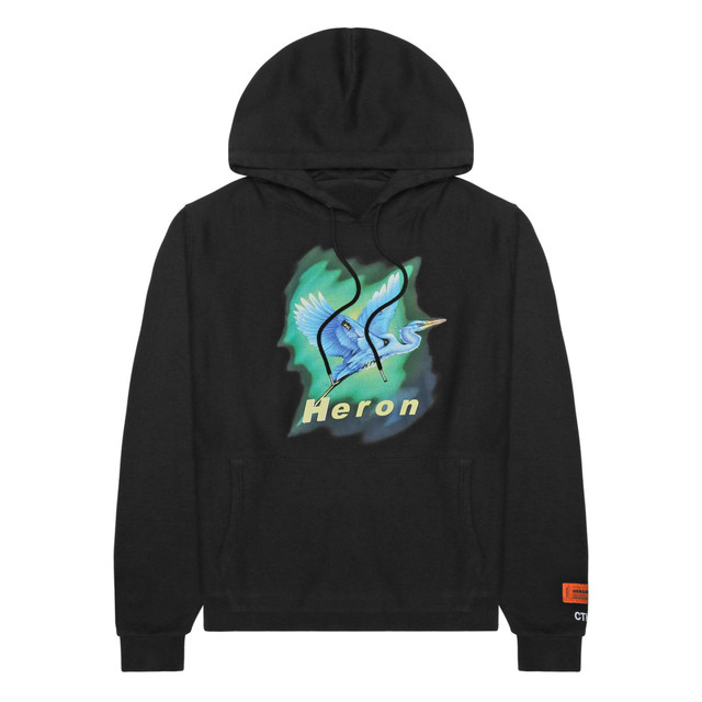 HERON PRESTON / AIRBRUSH HERON HOODED SWEATSHIRT