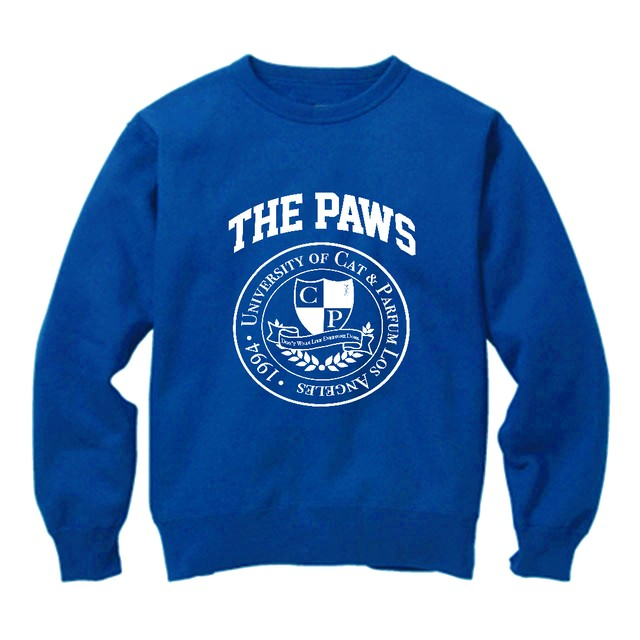 【Cat & Parfum】THE PAWS University Emblem Crew-Neck Sweat