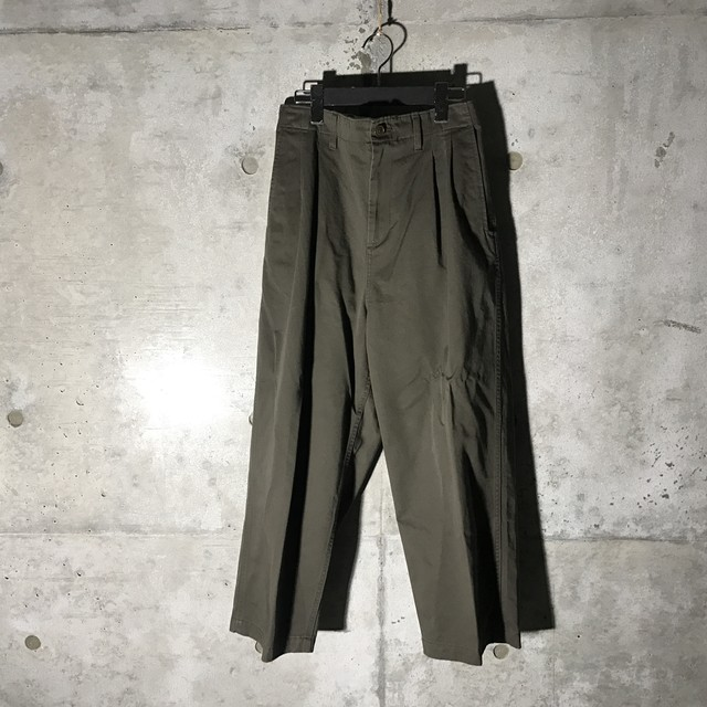 [used] rare colour wide chino pants