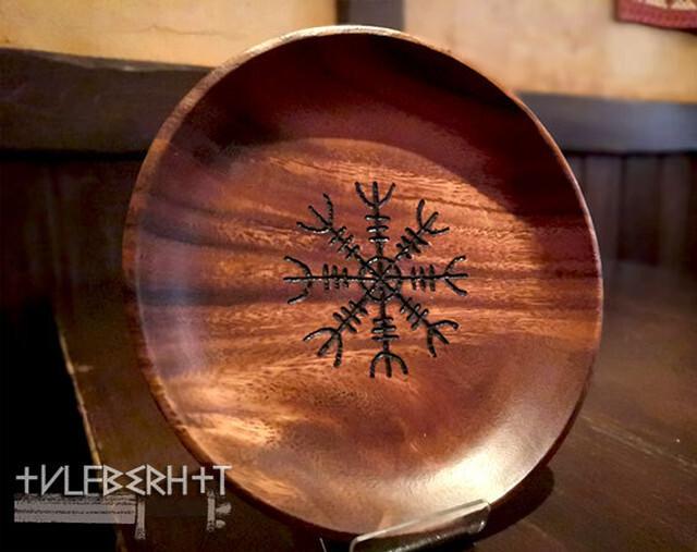 ヴァイキングシンボルの木皿