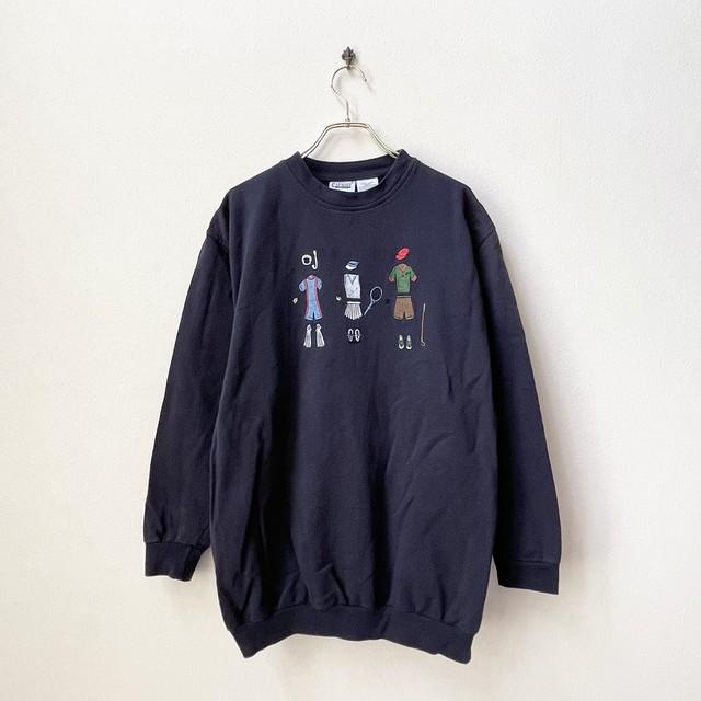 90年代 スポーツファッション刺繍 スウェット アメリカ 古着 日本L