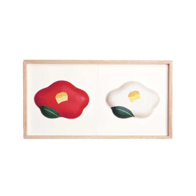 2種飾り16(ユキツバキ紅白)F02-016