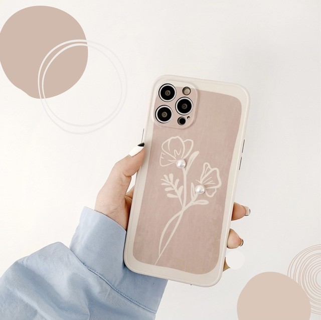 Pearl flower iphone case