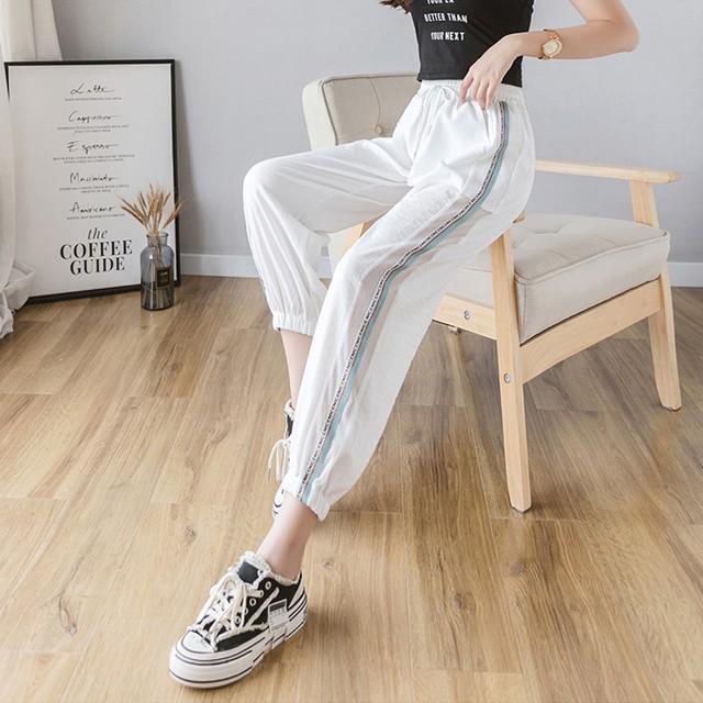 【ボトムス】バランスのとれたファッション 韓国系アルファベットカジュアルパンツ32176399