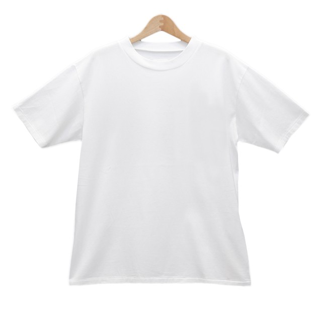 TOUJOURSトゥジュー/GARMENT DYE TRIPLE YARN COTTON JERSEY back print T-shritバックプリントTシャツ【EM32XC09】