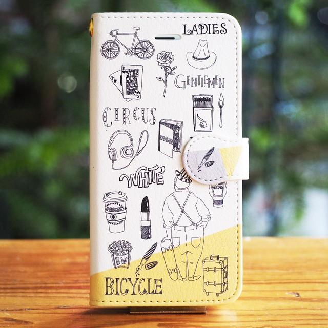 【iPhone】CIRCUS & MUSTARD 手帳型スマホケース