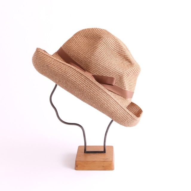mature ha./BOXED HAT 101 mixbrown×light choco