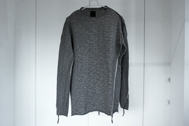 thom krom / SLAB JERSEY LONG SLEEVE  / GREY OIL