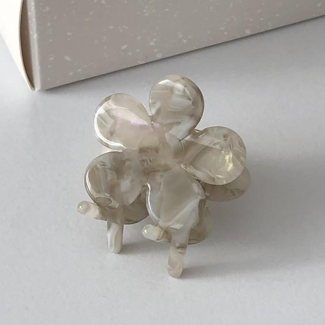 flower mini hair clip(2 colors)