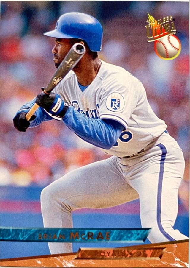 MLBカード 93FLEER Brian Mcrae Joyner #213 ROYALS