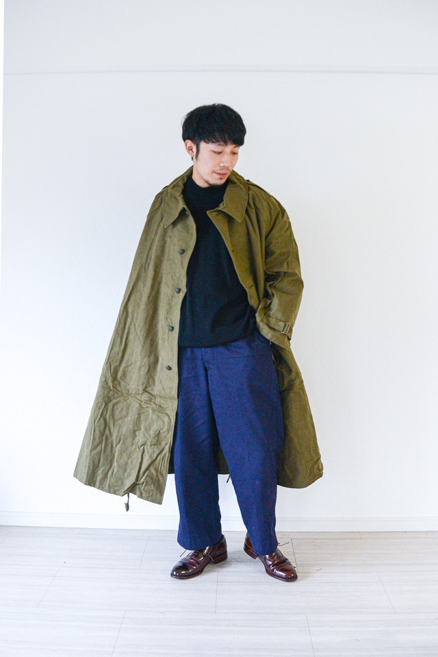 "【Deadstock】""M-35"" 1940s French Army Motorcycle Coat"