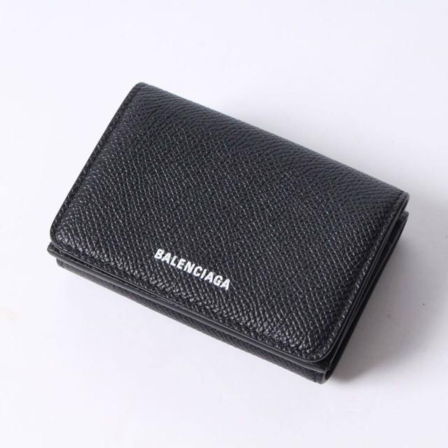 バレンシアガ(BALENCIAGA)  三つ折り財布 ロゴ レザーウォレット 財布 r013677