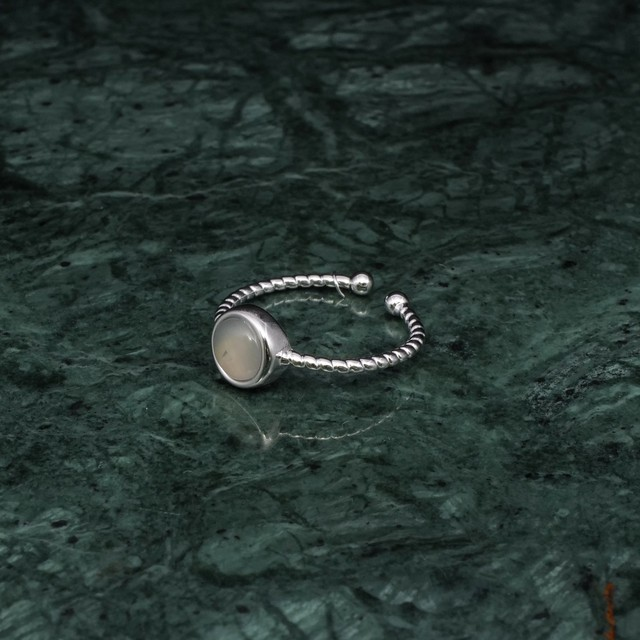 SINGLE MINI STONE RING SILVER