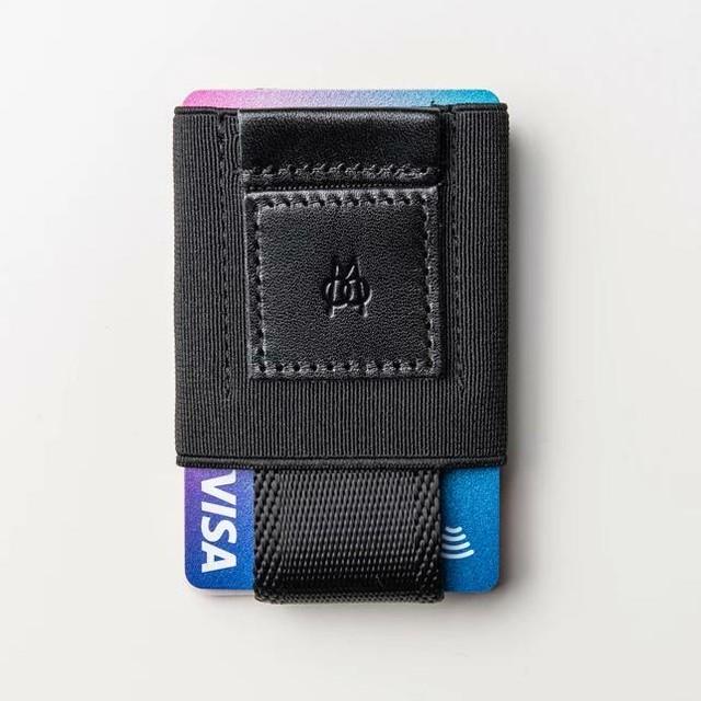 ■MOORGON モールゴン ミニマル財布 イージースリムウォレット トータルブラック
