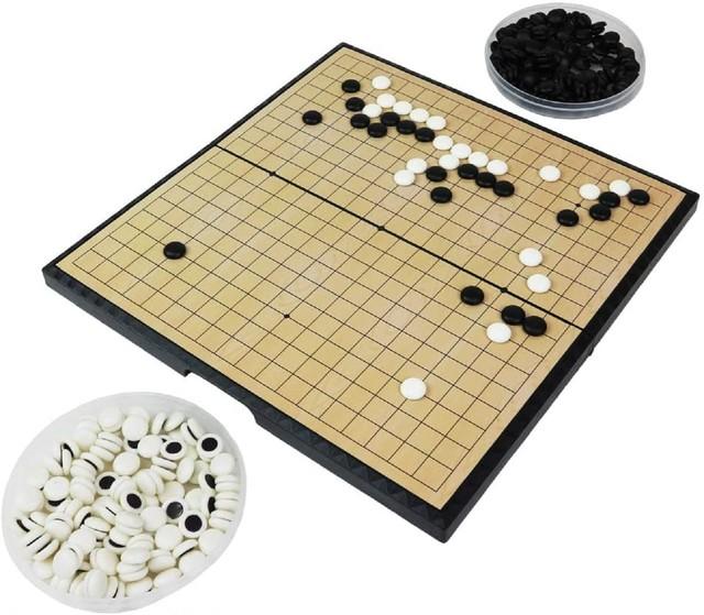 ポータブル囲碁セット 19路盤 折り畳み式 持ち運び ズレない 磁気囲碁盤 ボードゲーム