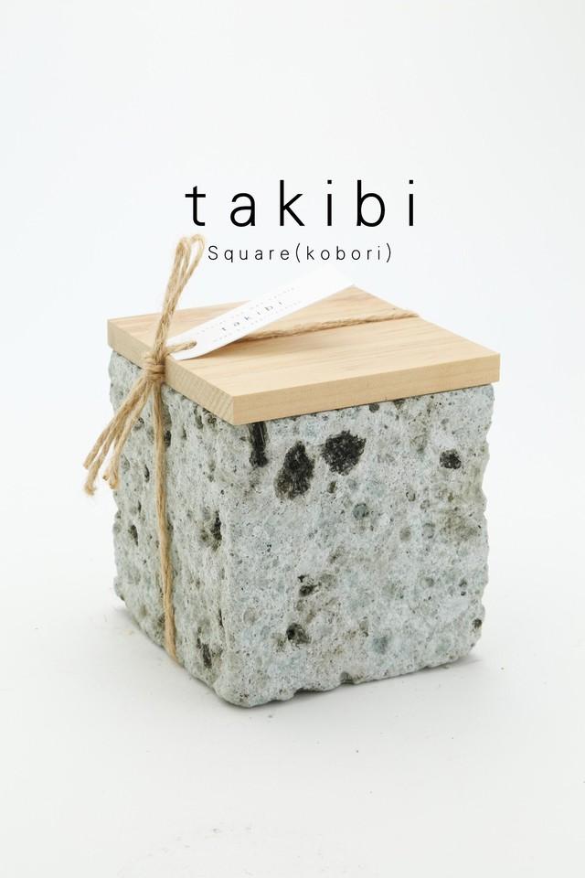 - takibi -  square (kobori)  大谷石 キャンドル 7000
