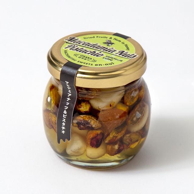 ナッツ&フルーツの完熟はちみつ漬け (マカデミアナッツ、ピスタチオ、パイン、アプリコット)