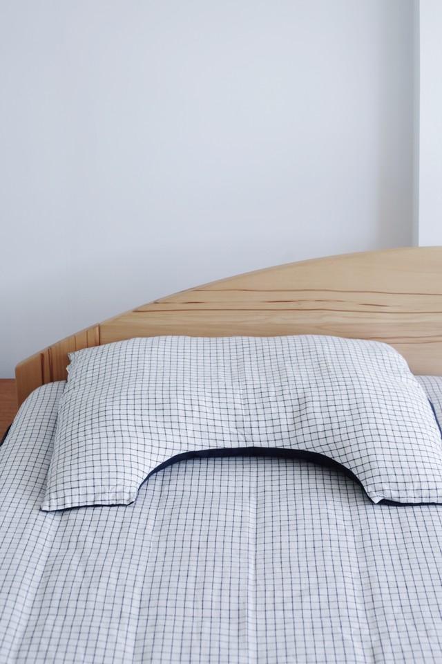 【fog linen work(フォグリネンワーク)×眠家】 U字 リネン枕カバー(レギュラーサイズ)【minka限定アイテム】