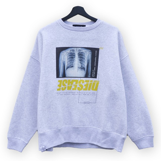 Big Silhouette Sweat ...DS... (JFK-041) - Gray